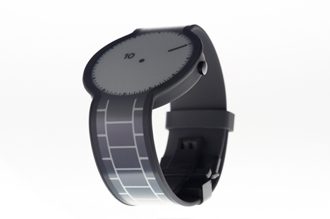 e-paper design shifting watch