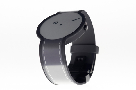 electronic paper design shifting watch