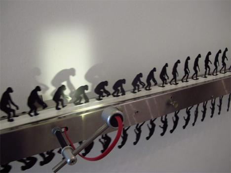 evolution and devolution moving sculpture