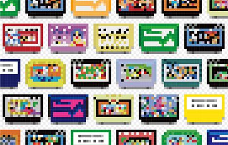game cartridge pixel wallpaper