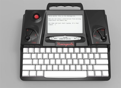 hemingwrite distraction free word processor typewriter