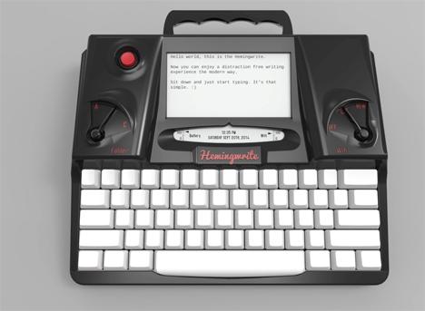 hemingwrite distraction free word processor typewriter