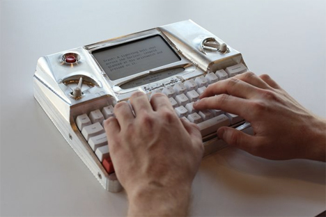high tech modern typewriter