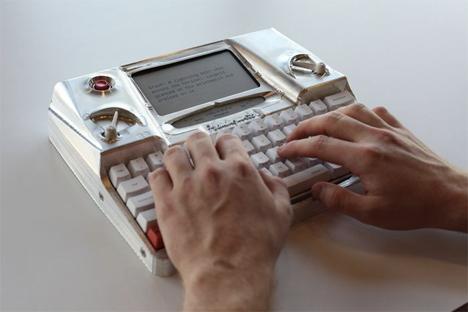 high tech modern typewriter