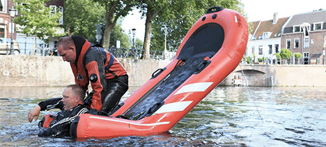 inflatable tipping rescue life raft