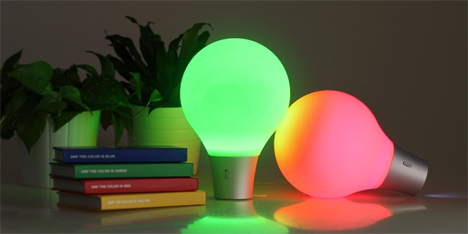 light absorbing color changing lamp