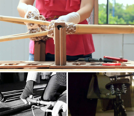 lightweight sustainable bamboo bike kit