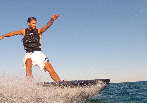 lithium battery powered electric wakeboard