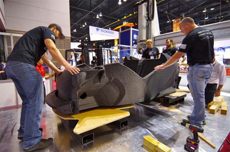 local motors one piece carbon fiber 3d printed car body
