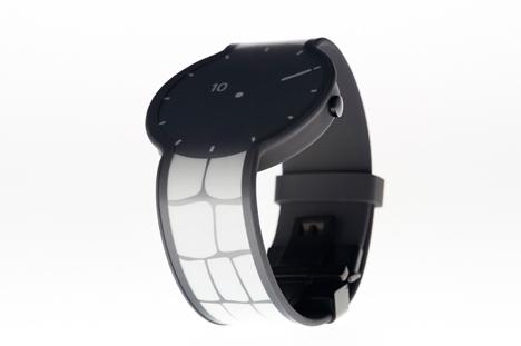 pattern changing electronic paper watch