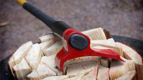 redesigned wood chopping axe