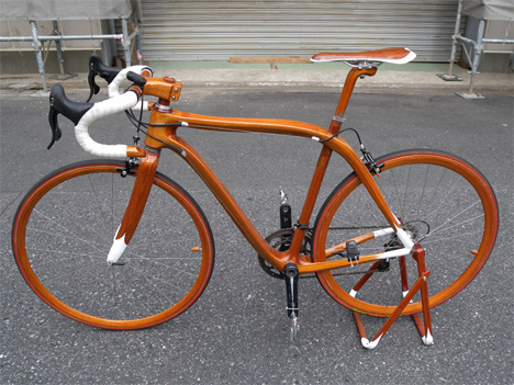 2 mahogany bikes by sueshiro sano