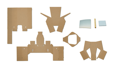 3 wearable cardboard periscope