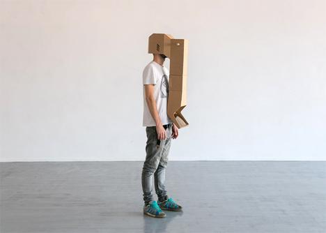 5 folding cardboard periscope