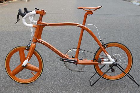 5 handcrafted japanese mahogany bikes