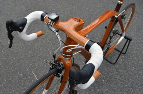 6 bespoke custom mahogany bikes