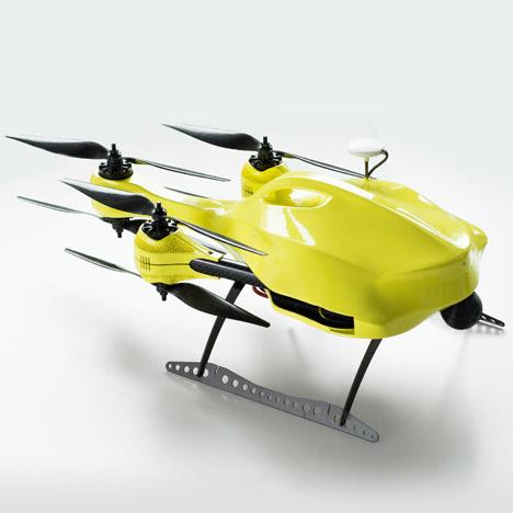 auto electric defibrillator drone