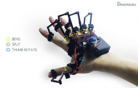 dexta robotics exoskeleton hand