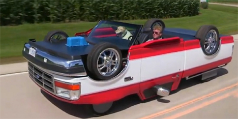 Crazy Upside Down Pickup Truck Is Flipping Street Legal