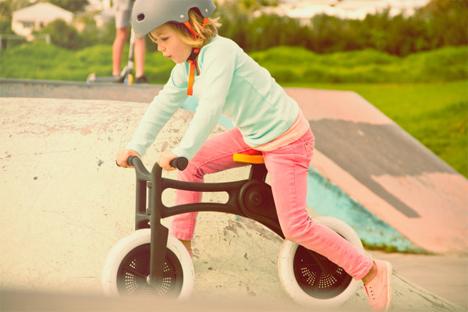 kids bike made of recycled carpet
