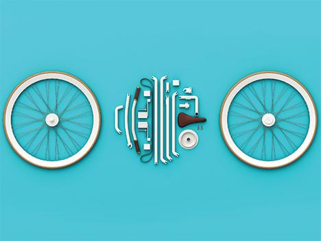 kit bike disassembled