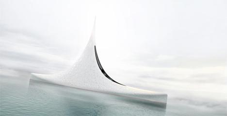 luxury star shaped yacht