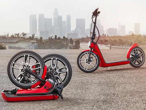 mini electric folding scooter