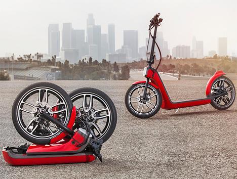 mini electric folding scooter