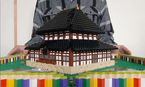 pop up lego sculptures
