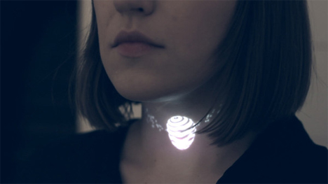 projected light necklace