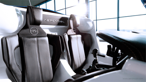 seats aeromobil flying car