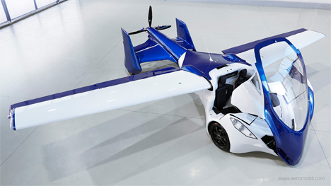 transforming flying car folding wings