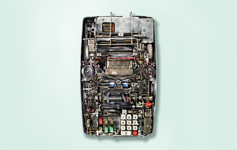 7 insides of old mechanical calculators