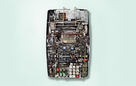 7 insides of old mechanical calculators