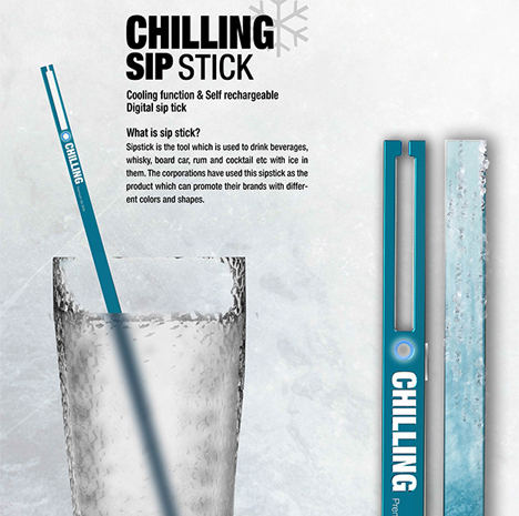 Hi Tech Straw Cools Your Booze Without Watering It Down