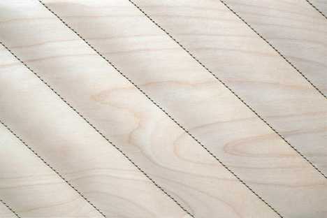 decorative stitched wood cover material