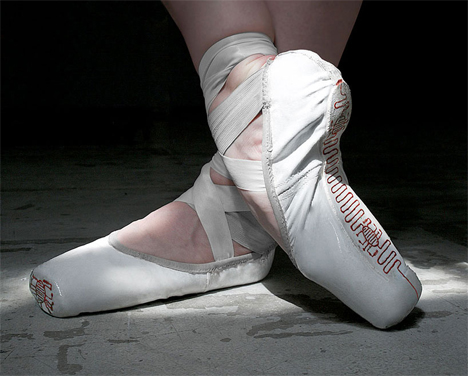 electronic traces ballet shoes