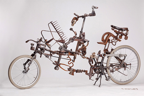 ipsum bike made of junk parts