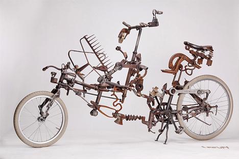 ipsum bike made of junk parts