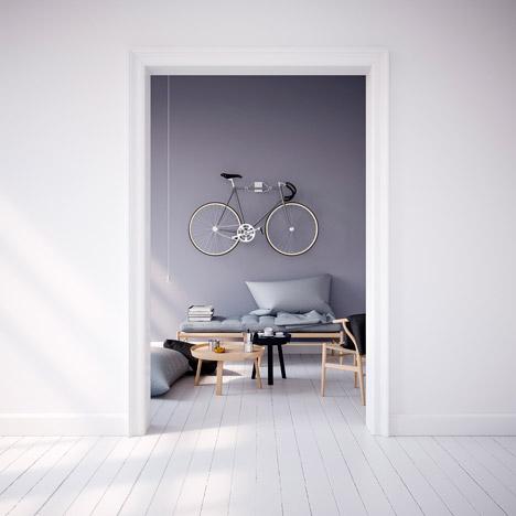 minimalist pincher bike wall hanger