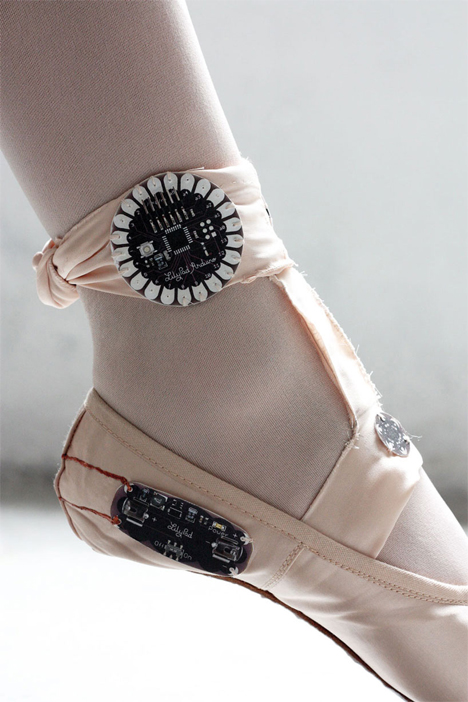 movement tracking ballet shoes