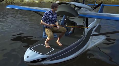 Multi Tasking Seaplane Is A Fishing Boat Sundeck Tent
