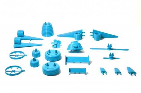 open toys project plastic vegetable pieces