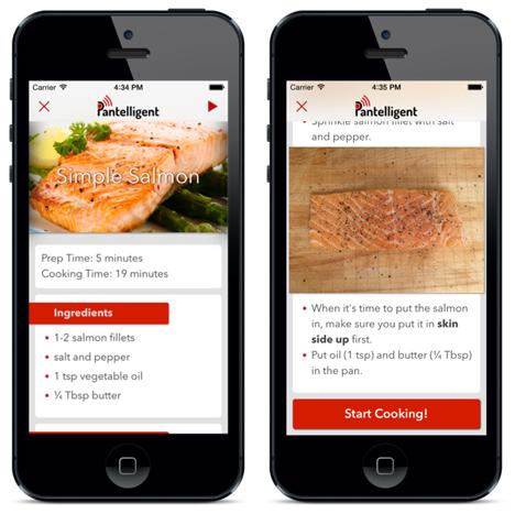 pantelligent app recipe book