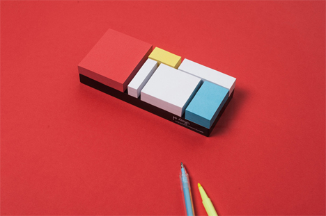 piet mondrian stationery