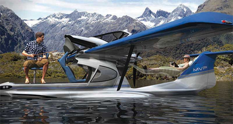 Motorcycle Pull Behind Camper Trailer Multi-Tasking Seaplane is a Fishing Boat, Sundeck + Tent | Gadgets ...