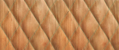 quilted wood material