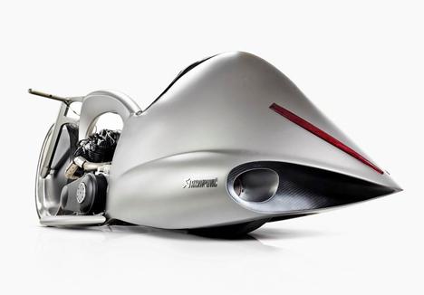 rear view akrapovic full moon motorcycle