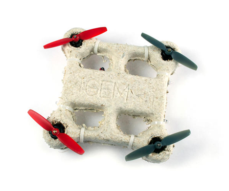 self-destructing biodegradable drone