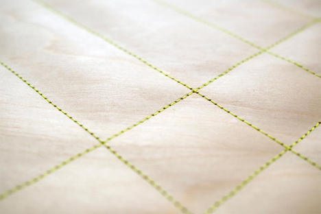 sewn wood cover material